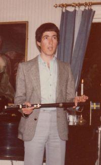 Michael Kaufmann som haller i flojten